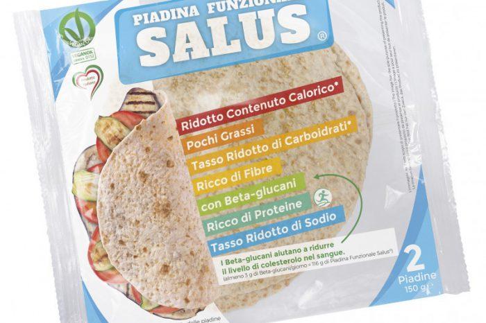 Nasce la Piadina Funzionale Salus®, che grazie ad un mix di farine permette di combattere il colesterolo