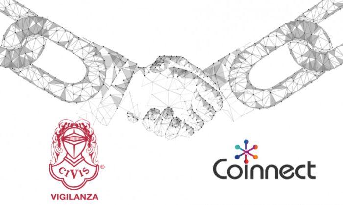 CIVIS sceglie Coinnect per lo sviluppo della prima applicazione Blockchain in Europa nell'ambito Vigilanza e Sicurezza.