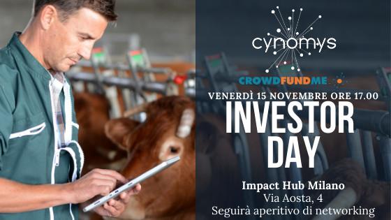 Cynomys tutto pronto per l'Investors Day a Milano, prosegue la campagna con successo su crowdfundme ed è l'unica startup italiana nelle TOP FINALIST di FeedTheFuture by Lely, leader mondiale dell'industria lattiero-casearia