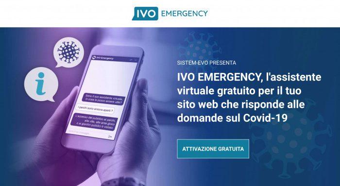 IVO EMERGENCY, il primo assistente virtuale gratuito per gli Enti Pubblici e le Aziende che risponde a tutte le domande sul Covid-19